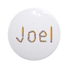 Joel Pencils Round Ornament