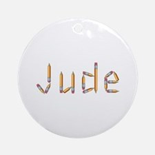 Jude Pencils Round Ornament