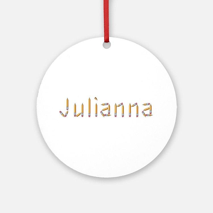 Julianna Pencils Round Ornament