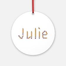 Julie Pencils Round Ornament