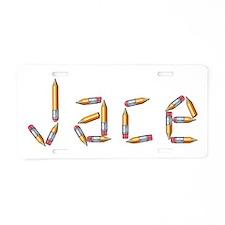 Jace Pencils Aluminum License Plate
