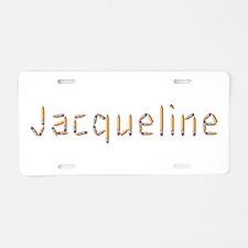 Jacqueline Pencils Aluminum License Plate