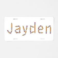 Jayden Pencils Aluminum License Plate