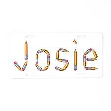 Josie Pencils Aluminum License Plate