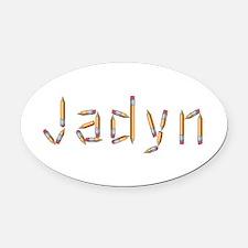 Jadyn Pencils Oval Car Magnet