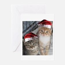 Christmas Tabby Cats Greeting Cards (Pk of 10)