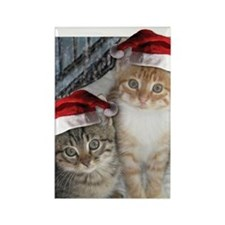 Christmas Tabby Cats Rectangle Magnet