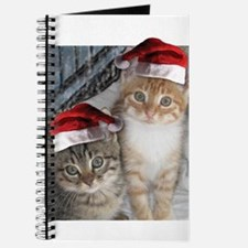 Christmas Tabby Cats Journal