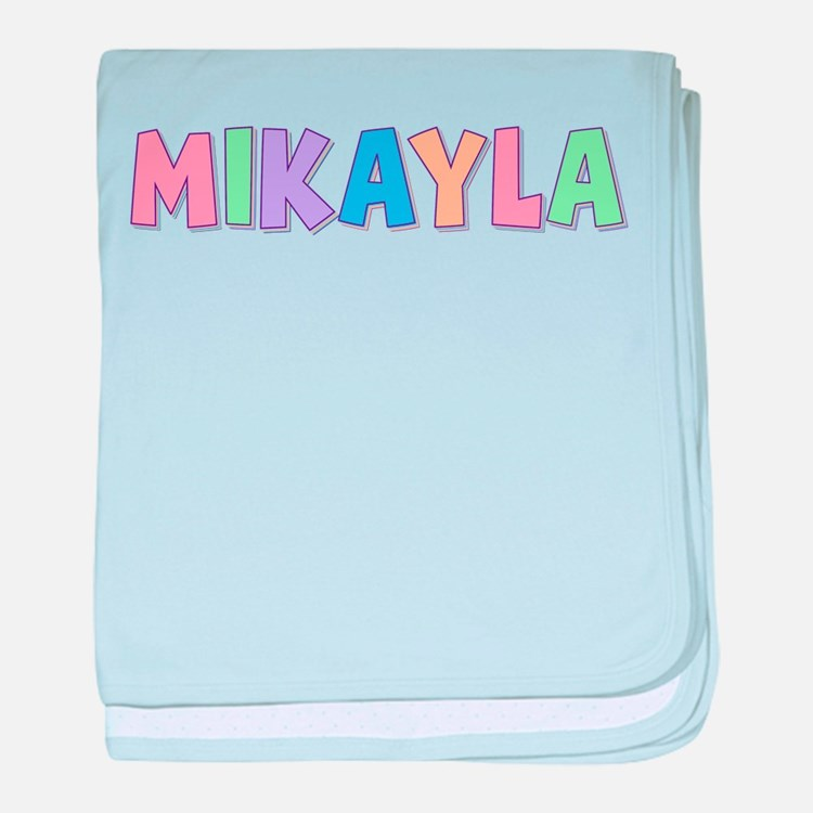 Mikayla Rainbow Pastel baby blanket
