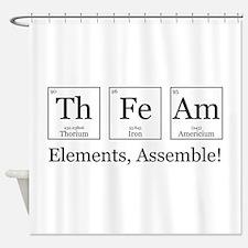 Elements, Assemble! Shower Curtain