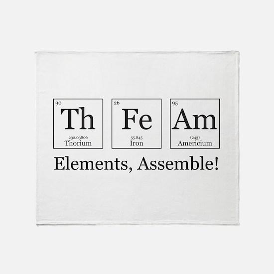Elements, Assemble! Throw Blanket