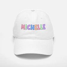 Michelle Rainbow Pastel Baseball Baseball Cap