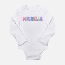 Michelle Rainbow Pastel Long Sleeve Infant Bodysui