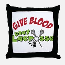 Play Lacrosse Throw Pillow