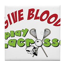 Play Lacrosse Tile Coaster
