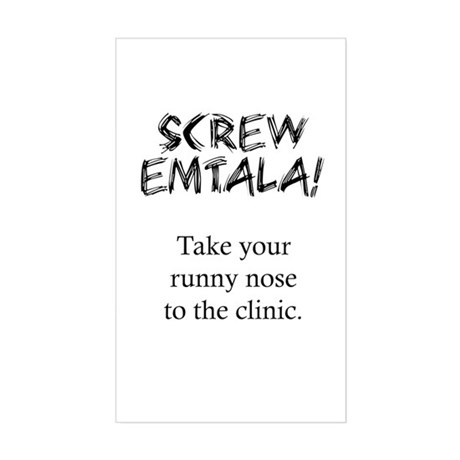 Screw EMTALA Rectangle Sticker