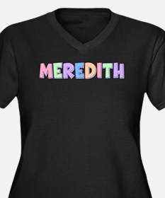 Meredith Rainbow Pastel Women's Plus Size V-Neck D