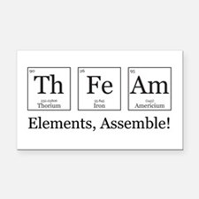 Elements, Assemble! Rectangle Car Magnet