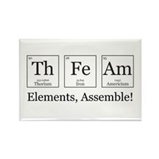Elements, Assemble! Rectangle Magnet