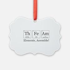 Elements, Assemble! Ornament