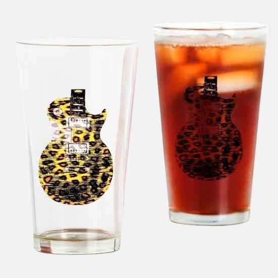 """Cheetah LP"" Drinking Glass"