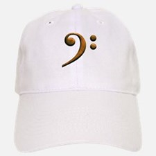 Gold bass clef Baseball Baseball Cap