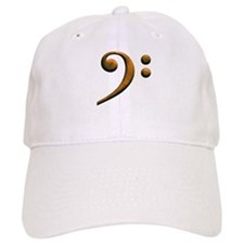 Gold bass clef Baseball Cap
