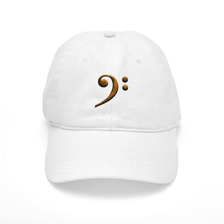 Gold bass clef Cap