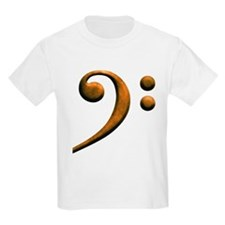 Gold bass clef Kids T-Shirt