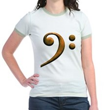Gold bass clef T