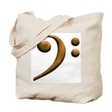 Gold bass clef Tote Bag