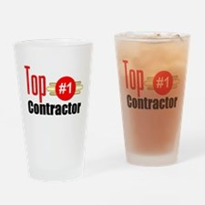Top Contractor Drinking Glass