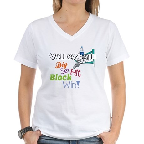 Dig Set Hit Women's V-Neck T-Shirt