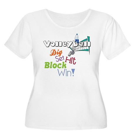 Dig Set Hit Women's Plus Size Scoop Neck T-Shirt