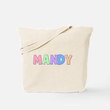 Mandy Rainbow Pastel Tote Bag