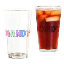 Mandy Rainbow Pastel Drinking Glass