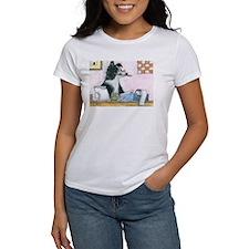 Border Collie dog accountant T-Shirt