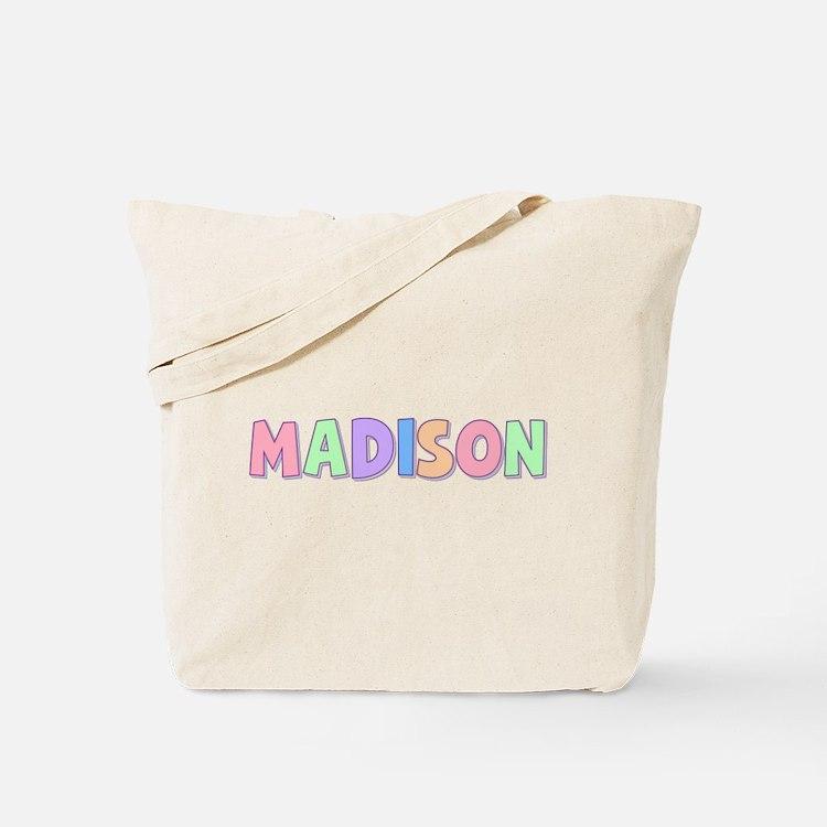 Madison Rainbow Pastel Tote Bag