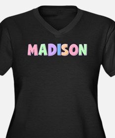 Madison Rainbow Pastel Women's Plus Size V-Neck Da