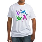 4 Geckos 4 Fitted T-Shirt