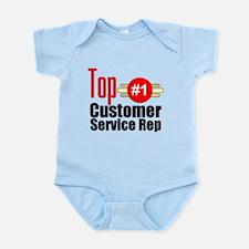 Top Customer Service Rep Infant Bodysuit