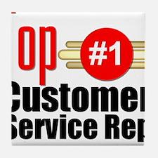 Top Customer Service Rep Tile Coaster