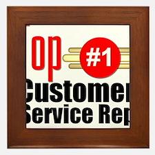 Top Customer Service Rep Framed Tile