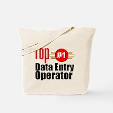Top Data Entry Operator Tote Bag