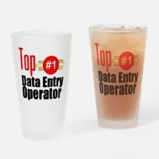 Top Data Entry Operator Drinking Glass