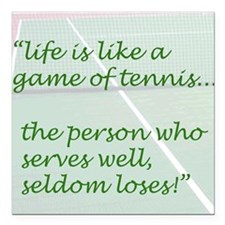 Life is like a game of tennis...... Square Car Mag