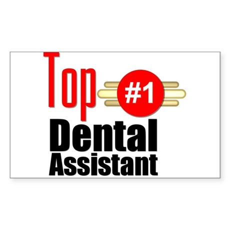 Top Dental Assistant Sticker (Rectangle)