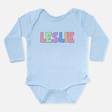 Leslie Rainbow Pastel Long Sleeve Infant Bodysuit