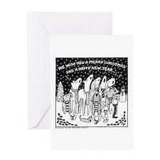 Dog Christmas Carols! Greeting Card