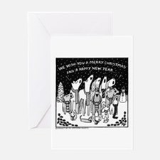 Dog Christmas Carols! Greeting Card